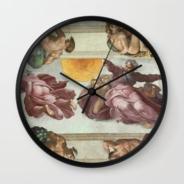 """Michelangelo """"Creation of the Sun, Moon, and Plants"""" Wall Clock"""
