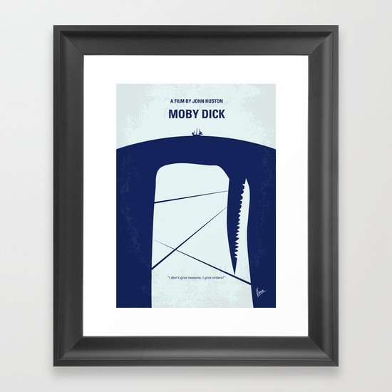 No267 My MOBY DICK minimal movie poster Framed Art Print
