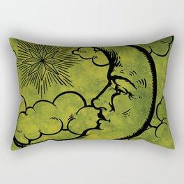 Moon vintage green black Rectangular Pillow