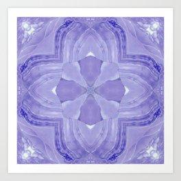 Jade Agate Stone Flower Violet Art Print