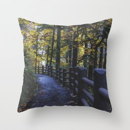 Glowing Yellow Throw Pillow