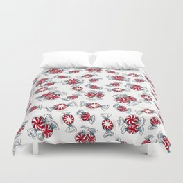 Holiday Peppermints Duvet Cover