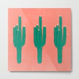 Cute Saguaros Metal Print