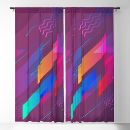 Girly Purple Abstract Art Design Blackout Curtain