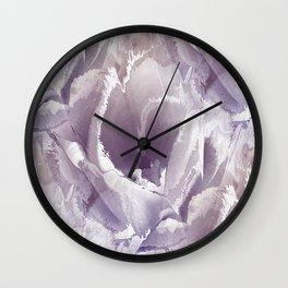 Tulip splashes Wall Clock