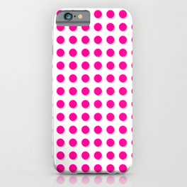 Hot pink dots with shadows iPhone Case
