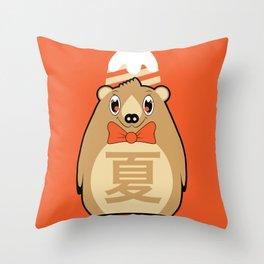 Natsu - Season bear Summer Throw Pillow