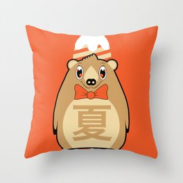 Natsu - Season bear Summer Throw Pillow