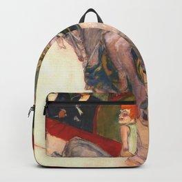 "Henri de Toulouse-Lautrec ""Equestrienne (At the Cirque Fernando)"" Backpack"