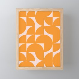 Modernist Shapes in Orange Framed Mini Art Print