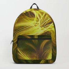Fractal Flower Yellow Palette Backpack