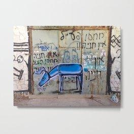 Tel Aviv Street Art / Blue Deer Metal Print