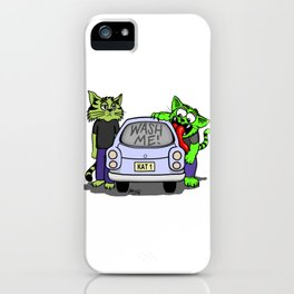 Wash Me Cats iPhone Case