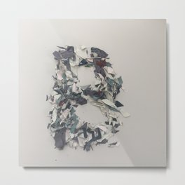 Letter B in paint Metal Print