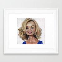 jessica lange Framed Art Prints featuring Jessica Lange by Jared Hobson
