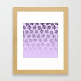 Abstract hand painted black lavender ombre floral Framed Art Print