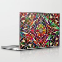 flower of life Laptop & iPad Skins featuring Flower of Life variation by Klara Acel