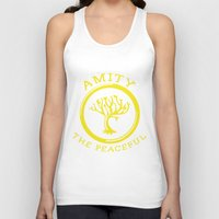 divergent Tank Tops featuring Divergent - Amity The Peaceful by Lunil