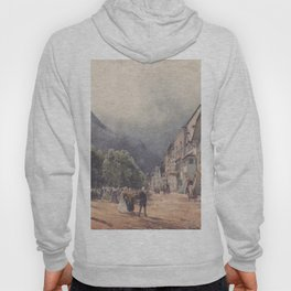 The Esplanade In Ischl by Rudolf von Alt | Reproduction Hoody