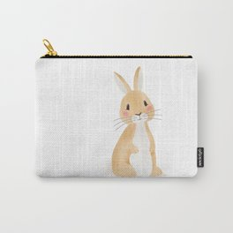 Cute rabbit illustration on white background Carry-All Pouch