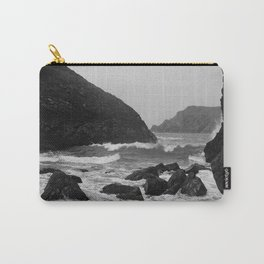 Kynance Cove in Black and White Carry-All Pouch