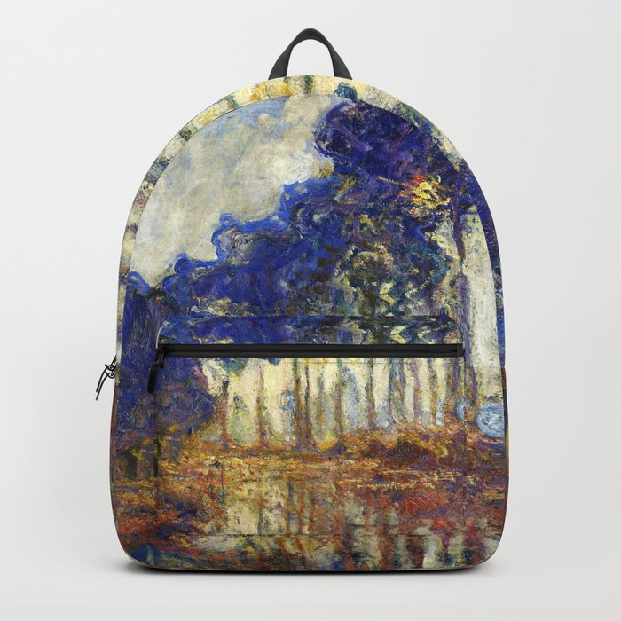 Poplars on the Bank of the Epte River by Claude Monet Backpack