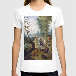 Noah's Family Assembling Animals before the Ark (ca. 1660) by Jan van Kessel T-shirt