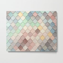Cute Rainbow Scales Metal Print