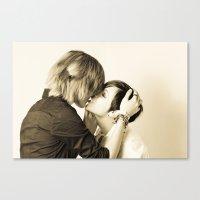 lesbian Canvas Prints featuring Lesbian Love by Yuraki