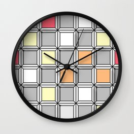 3D Checkerboard Multicolor 2 Wall Clock