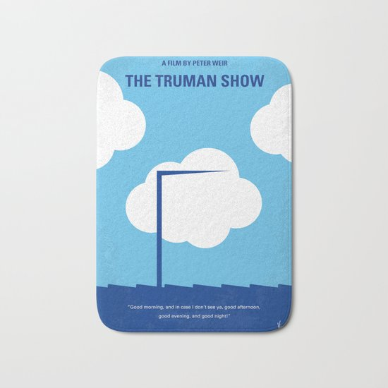 No234 My Truman show minimal movie poster Bath Mat