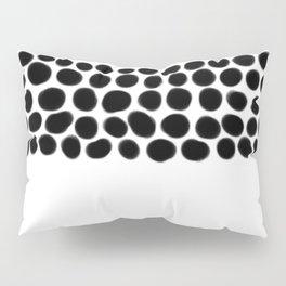 Onyx Black Spots on White Pillow Sham