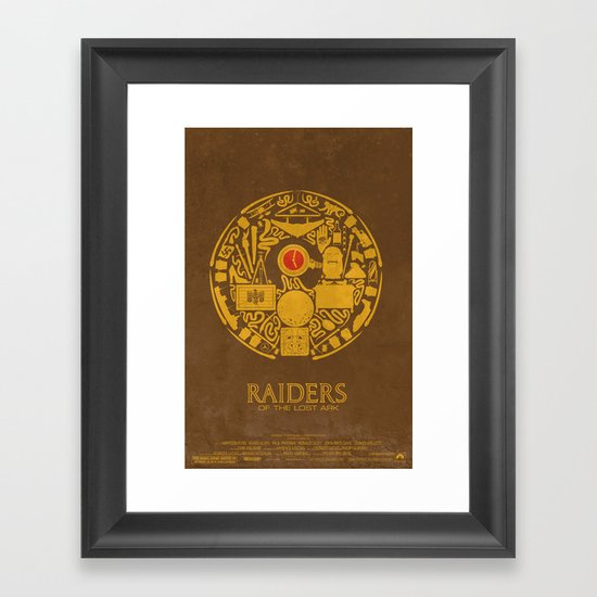 Raiders of the Lost Ark Poster Framed Art Print