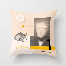 Beyond Curie: Margaret Ann Bulkley Throw Pillow