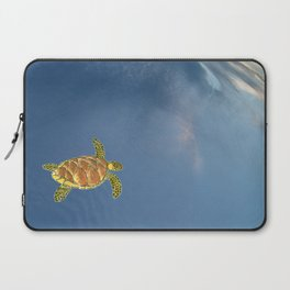 hawksbill swimming in the sky Laptop Sleeve