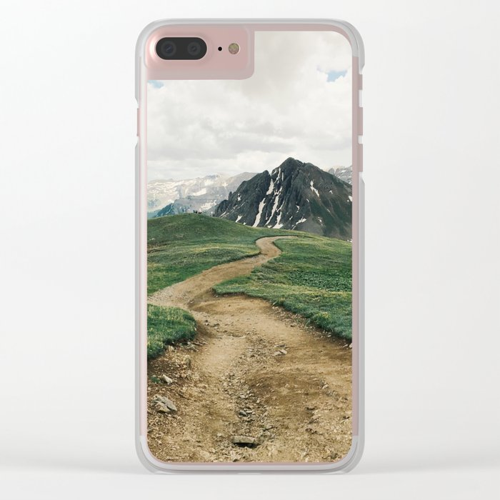 Colorado Mountain Road Clear iPhone Case