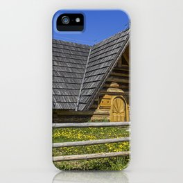 Wooden Home. iPhone Case