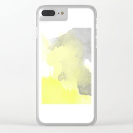 Yellow and Gray Ombre Watercolor  Clear iPhone Case