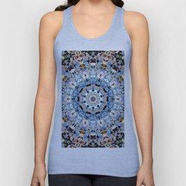 Blue Brown Folklore Texture Mandala Unisex Tank Top