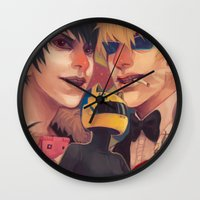 durarara Wall Clocks featuring Durarara!! by poopler