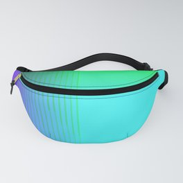 Cyan Green Purple Red Blue Black ombre rows and column texture Fanny Pack