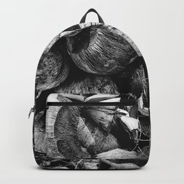 Coconut Shell Black and White Backpack
