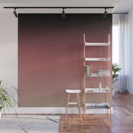 Ombre Black, Dusty Cedar, and Warm Taupe FALL 2016 PANTONE COLORS Wall Mural
