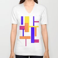 geo V-neck T-shirts featuring Geo by lillianhibiscus