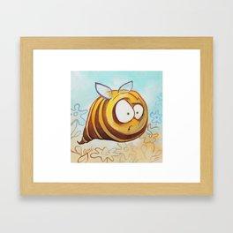 Fat Bee Framed Art Print