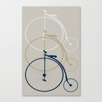 bikes Canvas Prints featuring Bikes by deugeniodesigns