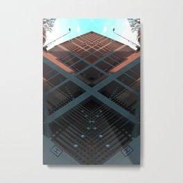 banque nationale belgique brussels rorschach symmetry caleidoscope mirror 23771 Metal Print