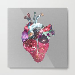 Superstar Heart (on grey) Metal Print