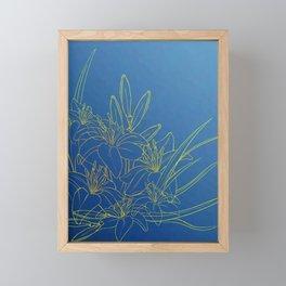 Day Lily Blue Framed Mini Art Print