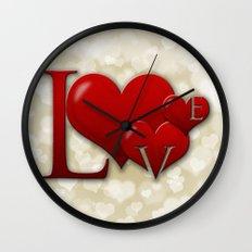 Love! Love! Love!  Wall Clock